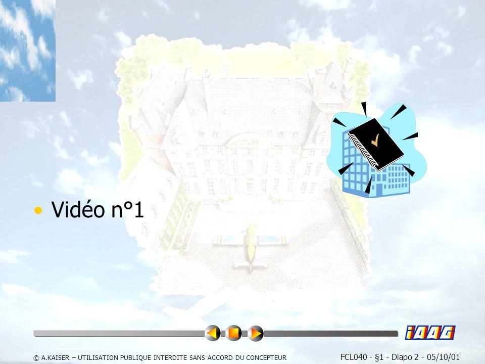 Vidéo n°1