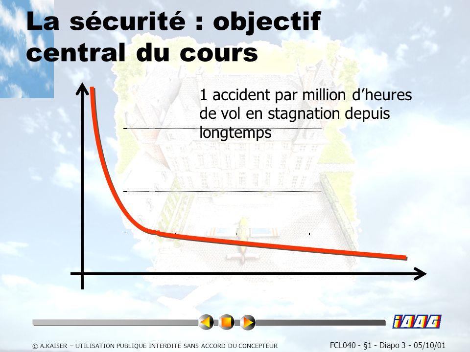 La sécurité : objectif central du cours