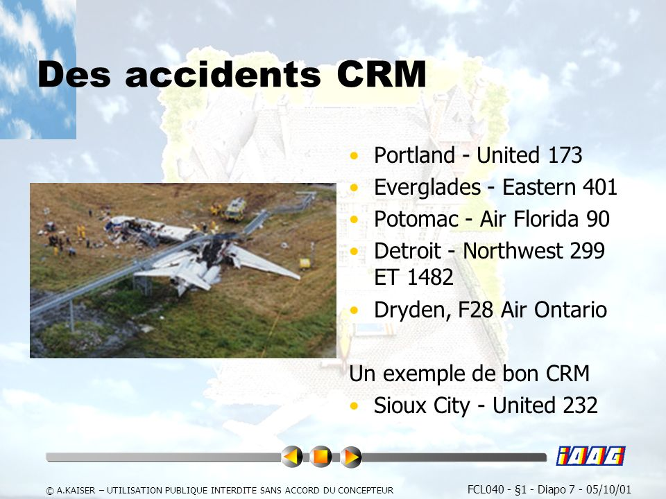 Des accidents CRM Portland - United 173 Everglades - Eastern 401