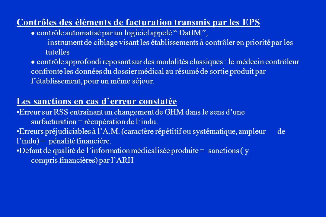 Contrôles des éléments de facturation transmis par les EPS
