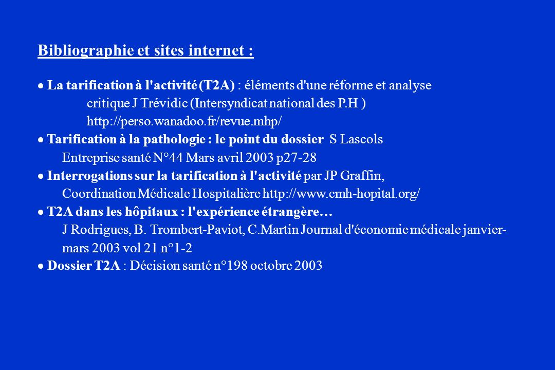 Bibliographie et sites internet :