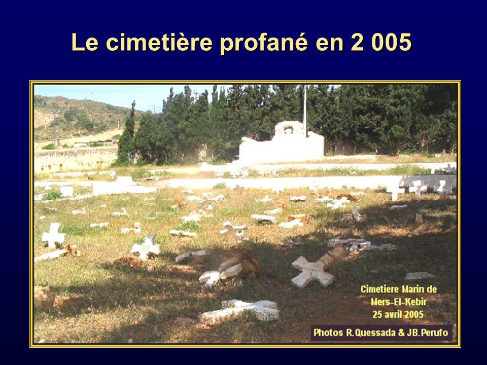 Le cimetière profané en 2 005
