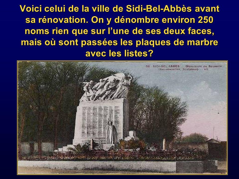 Voici celui de la ville de Sidi-Bel-Abbès avant sa rénovation