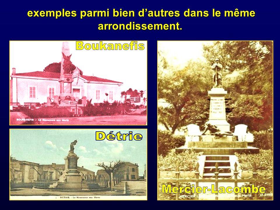 exemples parmi bien d'autres dans le même arrondissement.