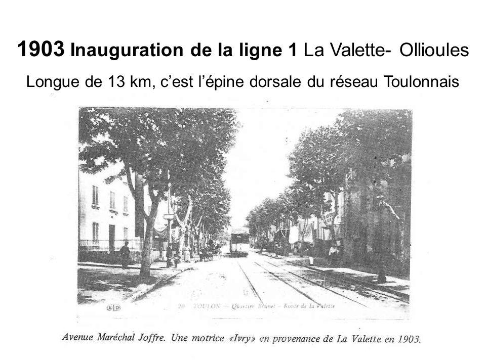 1903 Inauguration de la ligne 1 La Valette- Ollioules
