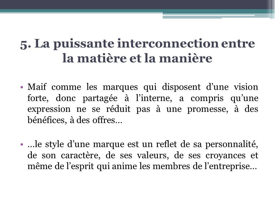 5. La puissante interconnection entre la matière et la manière