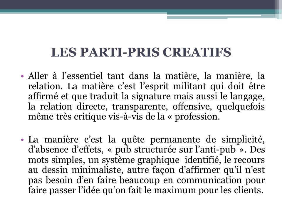 LES PARTI-PRIS CREATIFS