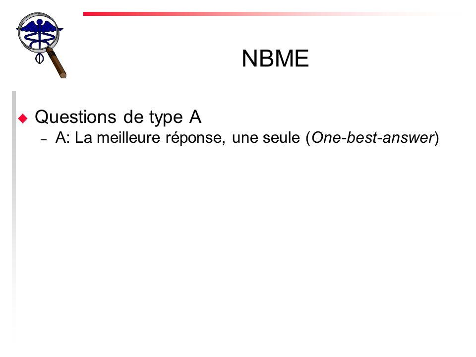 NBME Questions de type A