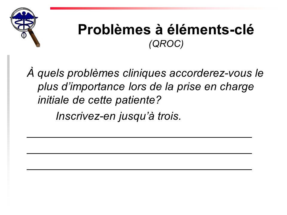 Problèmes à éléments-clé (QROC)