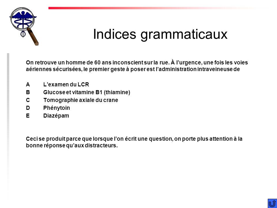 Indices grammaticaux