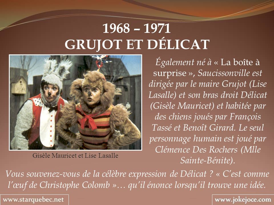 Gisèle Mauricet et Lise Lasalle