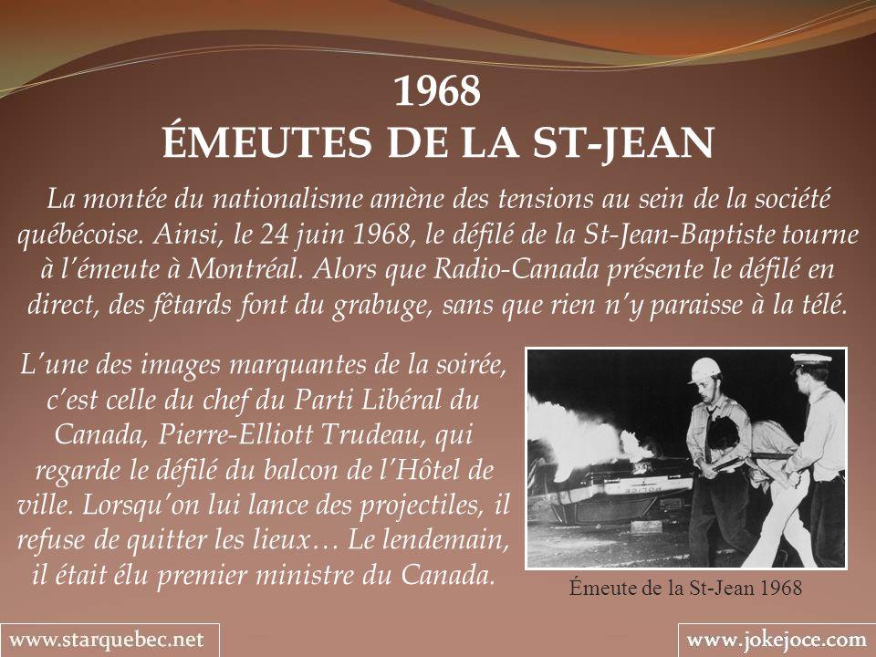 1968 ÉMEUTES DE LA ST-JEAN.