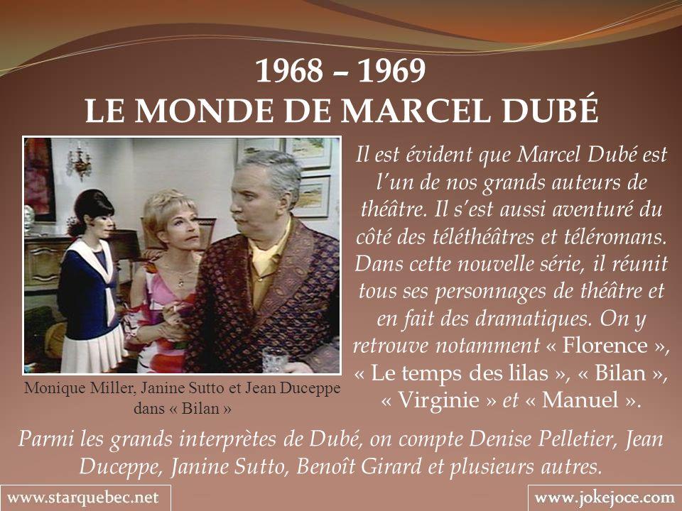 Monique Miller, Janine Sutto et Jean Duceppe dans « Bilan »