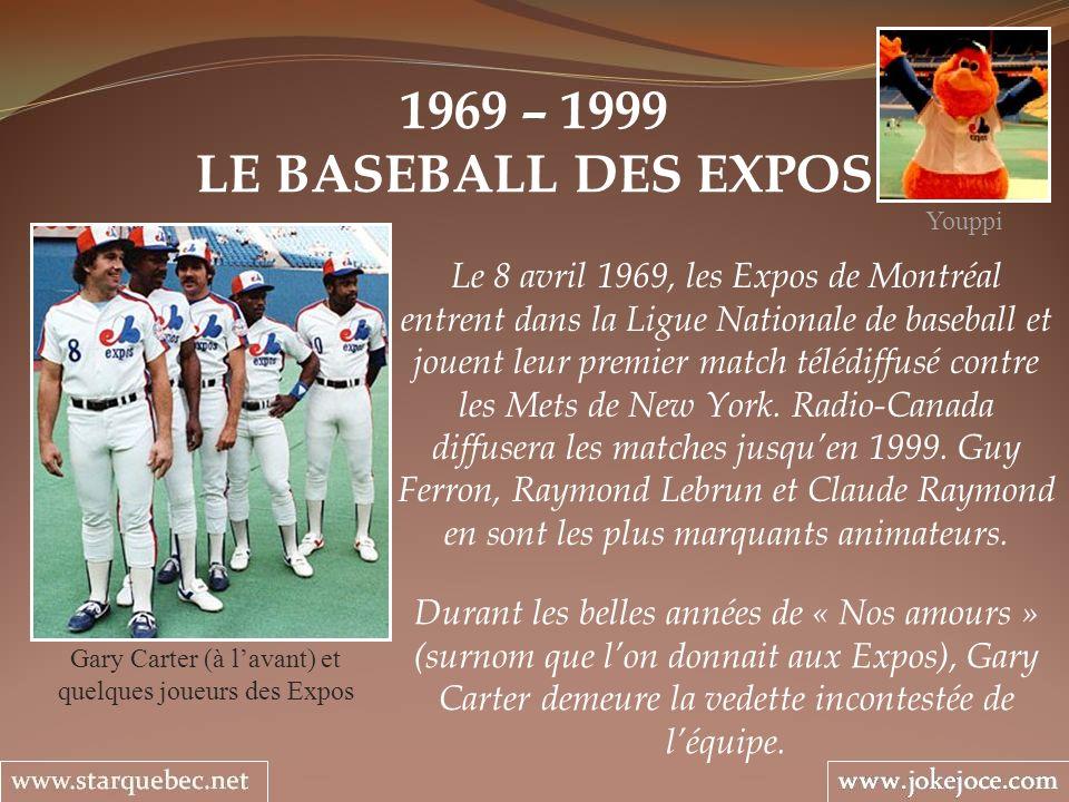 Gary Carter (à l'avant) et quelques joueurs des Expos