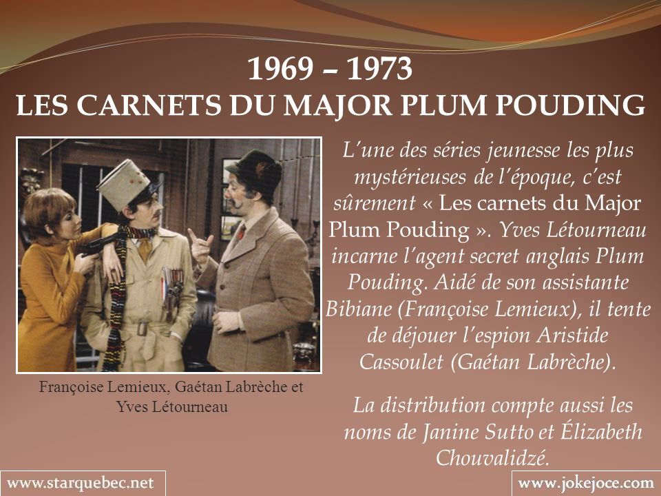 LES CARNETS DU MAJOR PLUM POUDING