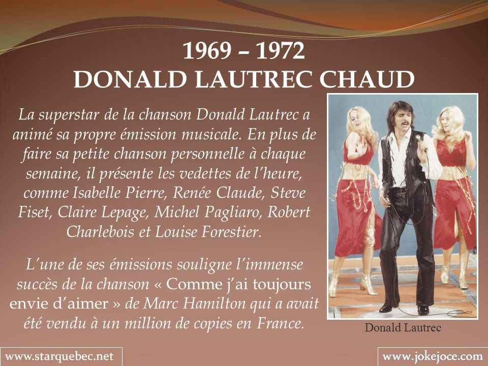 1969 – 1972 DONALD LAUTREC CHAUD.