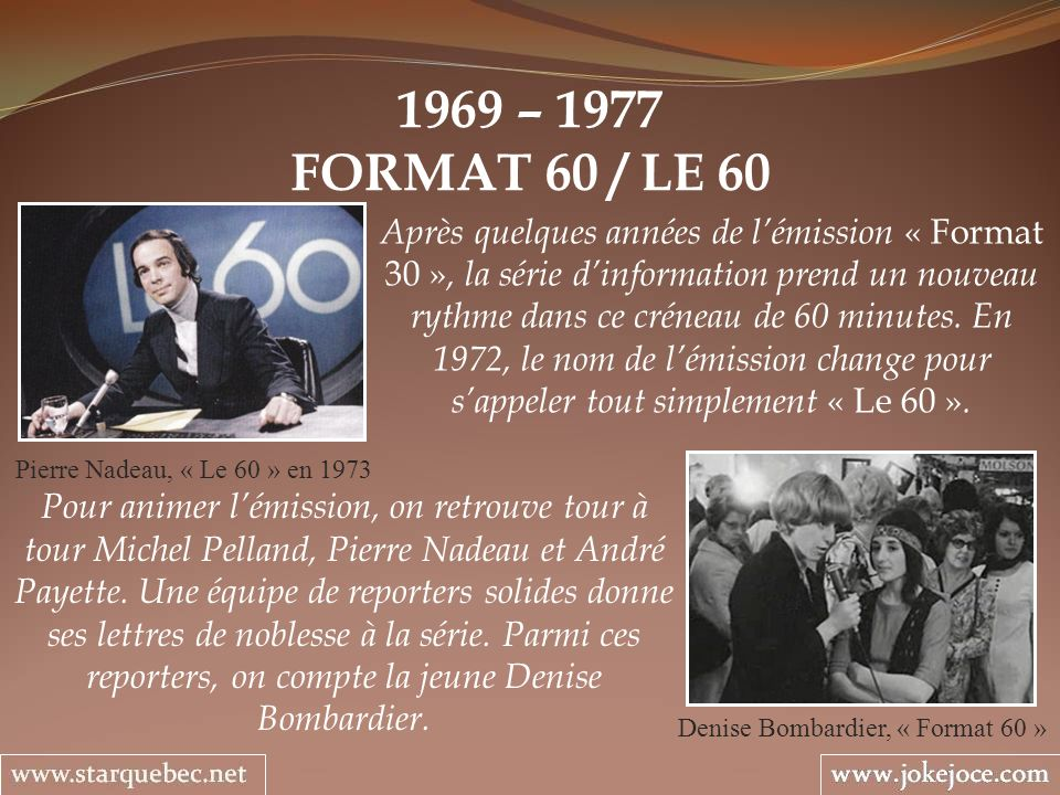 Denise Bombardier, « Format 60 »