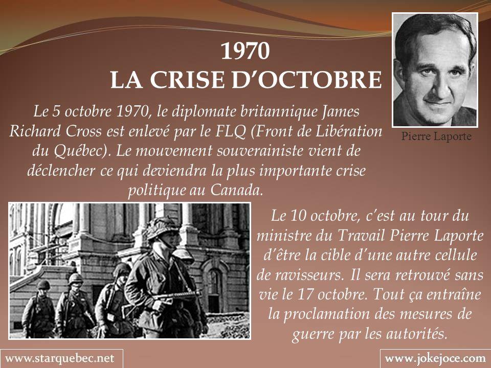 1970 LA CRISE D'OCTOBRE.