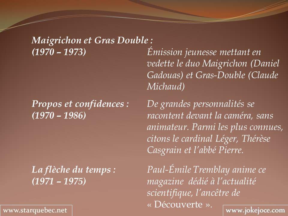 Maigrichon et Gras Double :