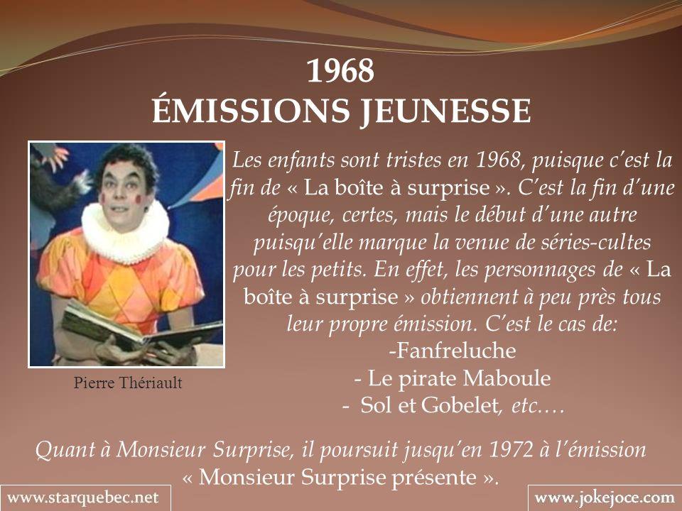 1968 ÉMISSIONS JEUNESSE.