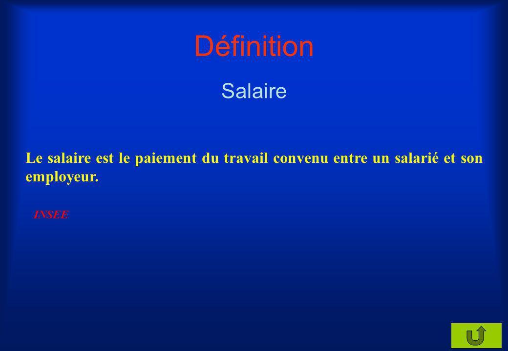 Définition Salaire. Le salaire est le paiement du travail convenu entre un salarié et son employeur.