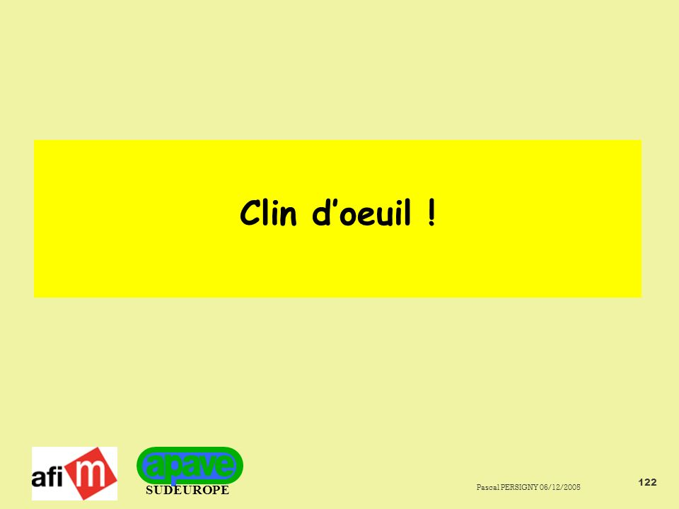 Clin d'oeuil ! Pascal PERSIGNY 06/12/2005