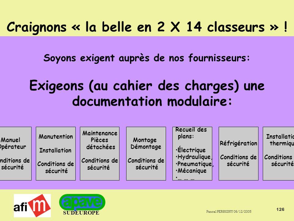 Craignons « la belle en 2 X 14 classeurs » !