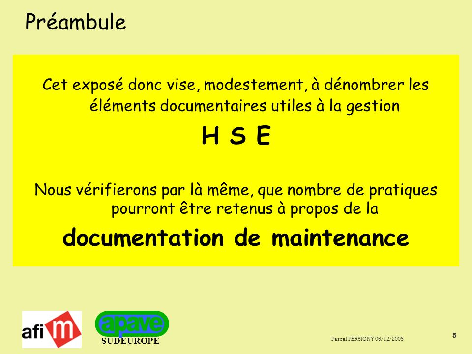 documentation de maintenance