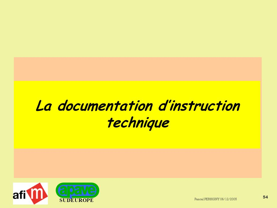 La documentation d'instruction technique