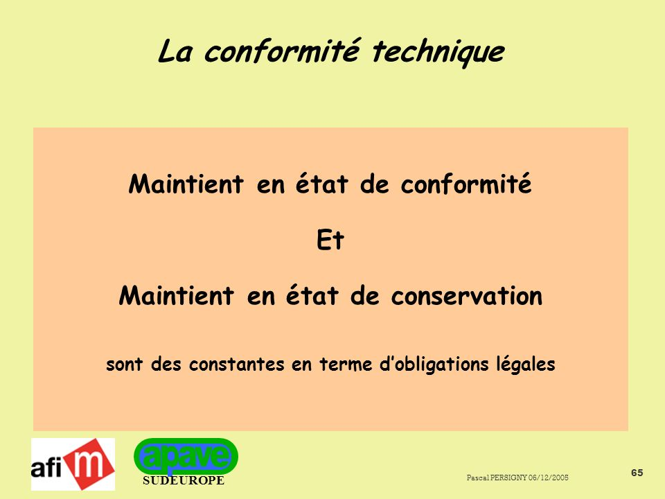 La conformité technique