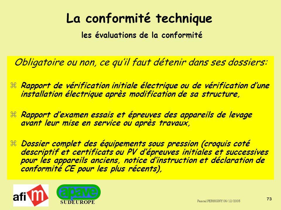 La conformité technique les évaluations de la conformité
