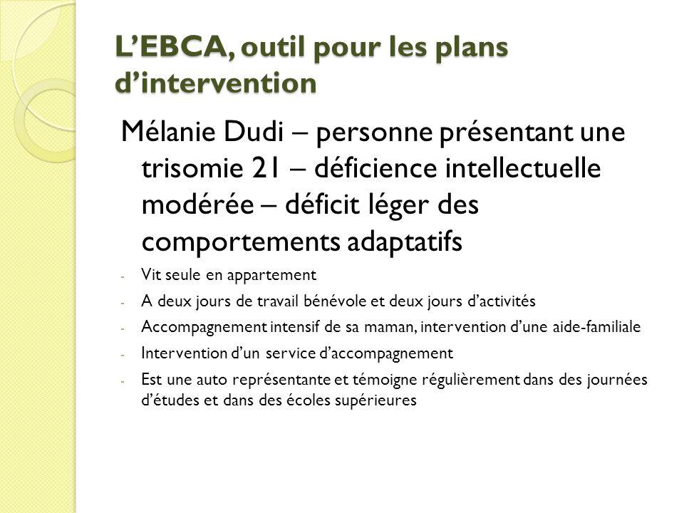 L'EBCA, outil pour les plans d'intervention