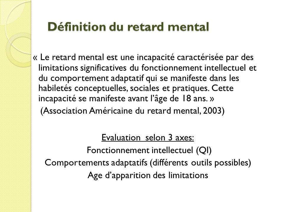 Définition du retard mental