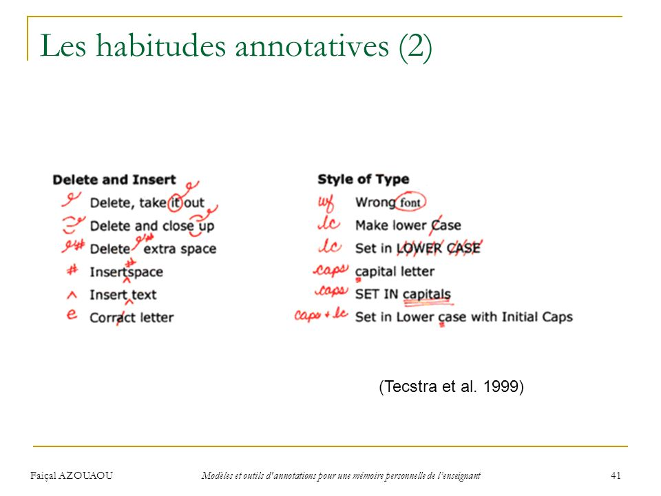 Les habitudes annotatives (2)