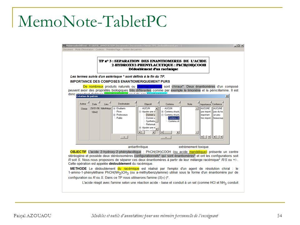 MemoNote-TabletPC Faiçal AZOUAOU