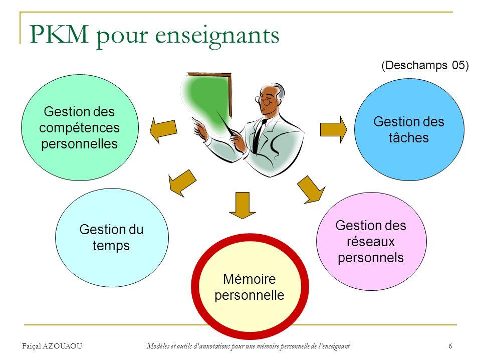 PKM pour enseignants Gestion des compétences personnelles