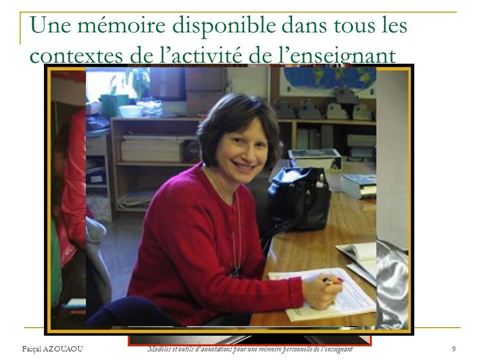 Une mémoire disponible dans tous les contextes de l'activité de l'enseignant