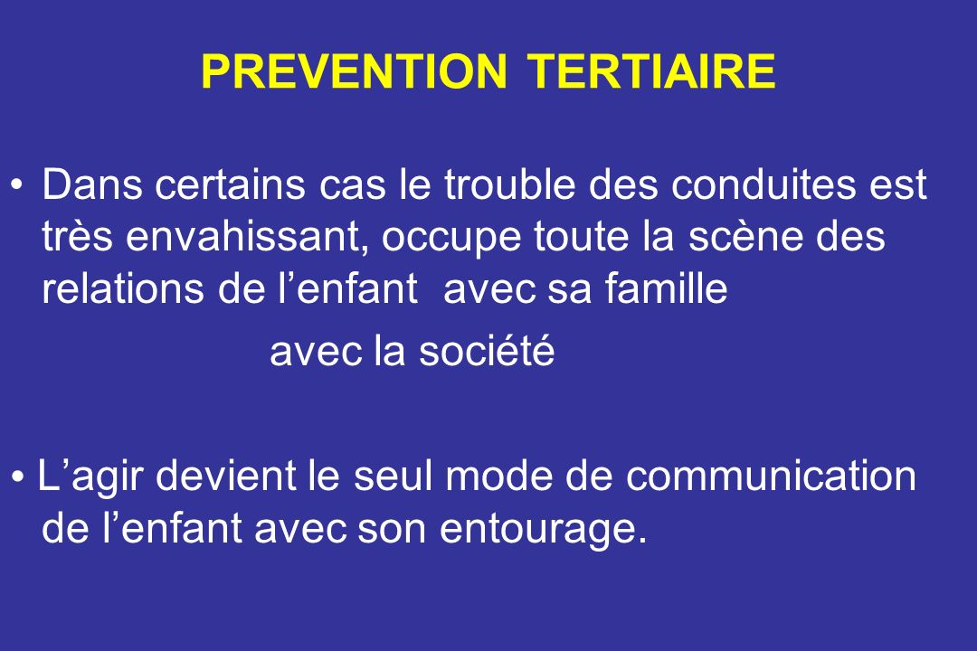 PREVENTION TERTIAIRE