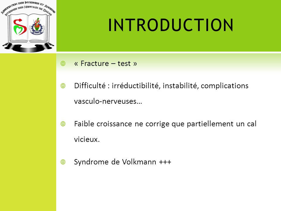 INTRODUCTION « Fracture – test »
