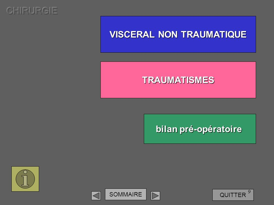 VISCERAL NON TRAUMATIQUE