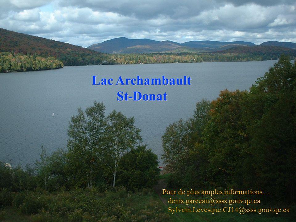 Lac Archambault St-Donat