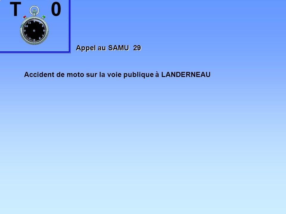 Appel au SAMU 29 Accident de moto sur la voie publique à LANDERNEAU