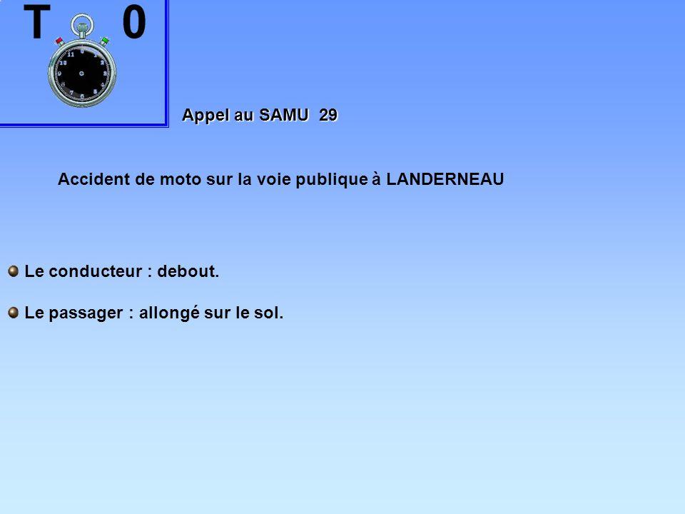 Appel au SAMU 29 Accident de moto sur la voie publique à LANDERNEAU.