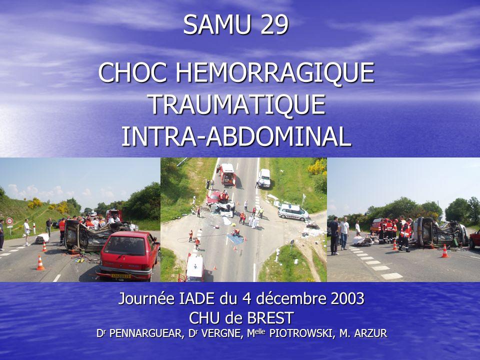 SAMU 29 CHOC HEMORRAGIQUE TRAUMATIQUE INTRA-ABDOMINAL