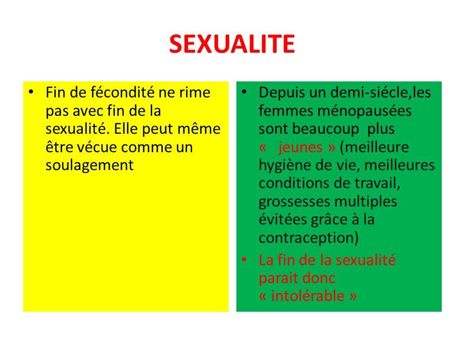 SEXUALITE Fin de fécondité ne rime pas avec fin de la sexualité. Elle peut même être vécue comme un soulagement.