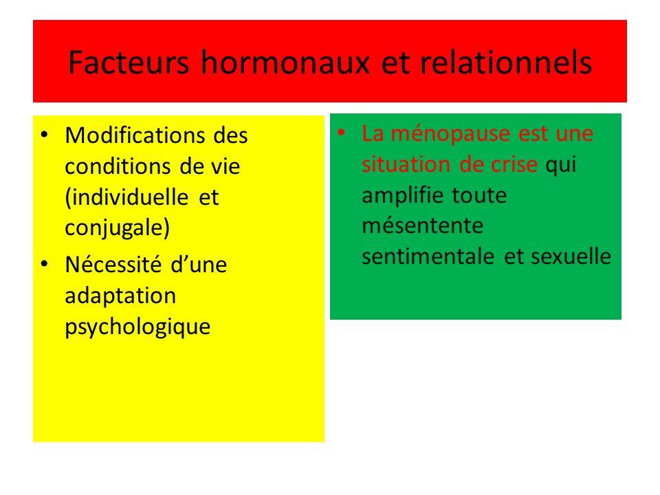 Facteurs hormonaux et relationnels