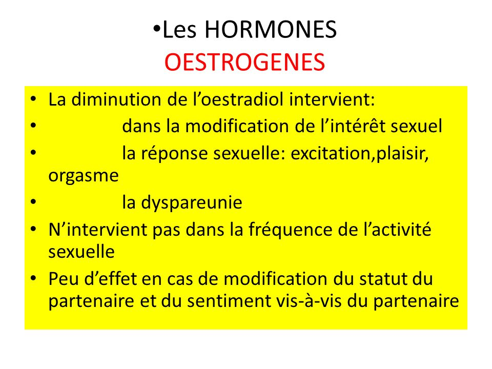 Les HORMONES OESTROGENES
