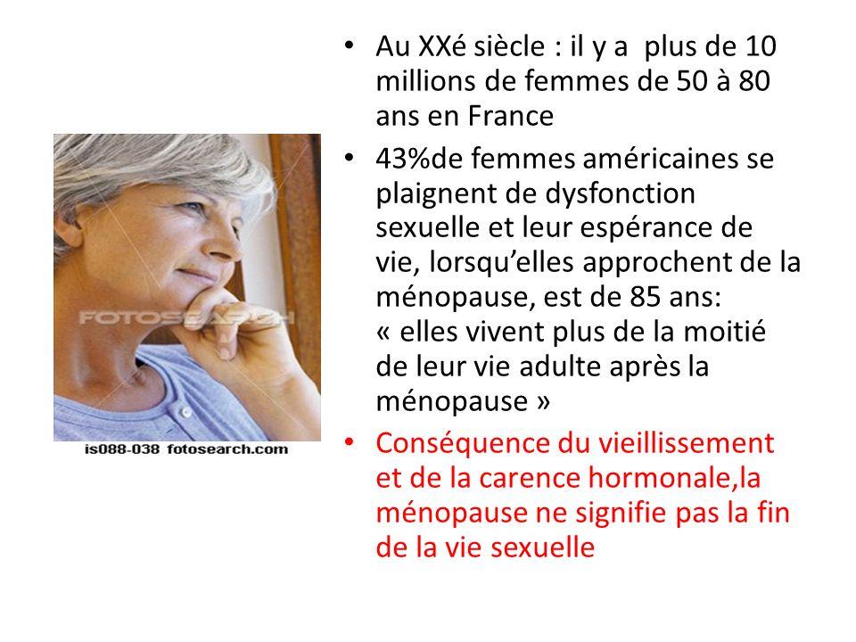 Au XXé siècle : il y a plus de 10 millions de femmes de 50 à 80 ans en France