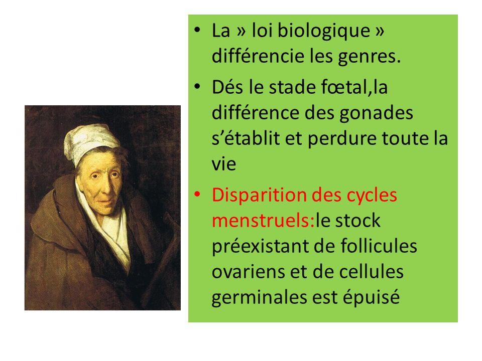 La » loi biologique » différencie les genres.