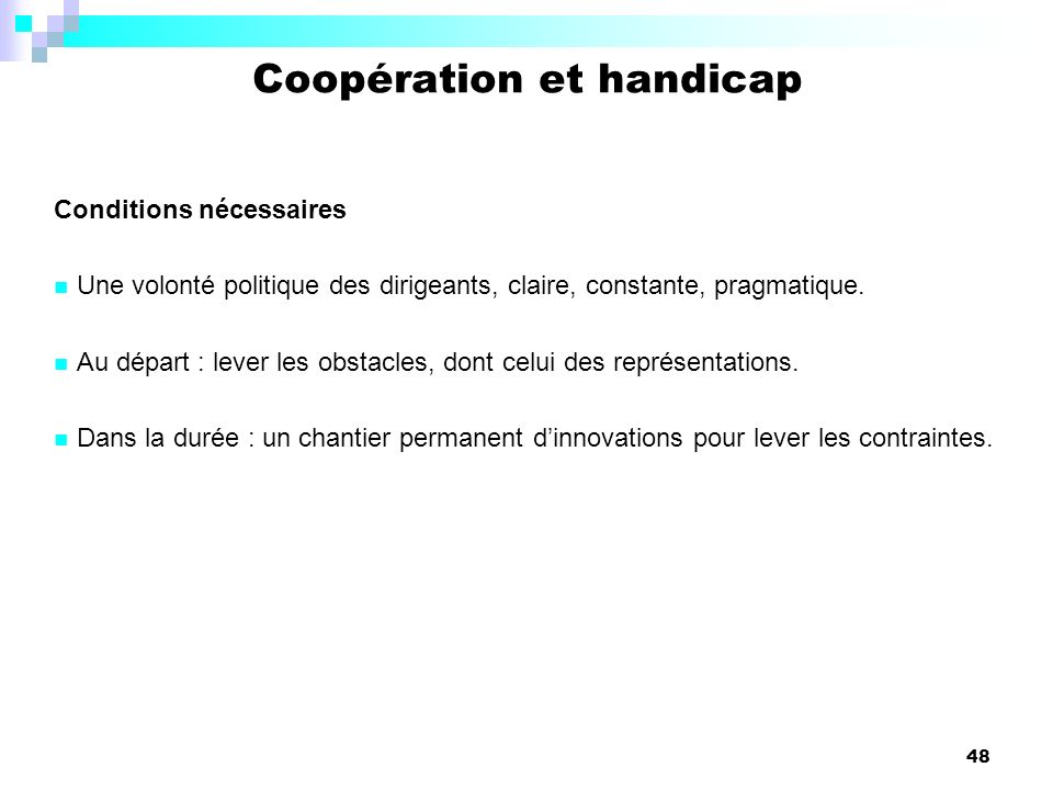 Coopération et handicap
